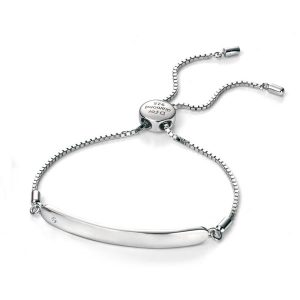 D for Diamond Chain ID bracelet