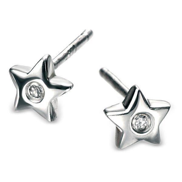 D for Diamond Star stud earrings