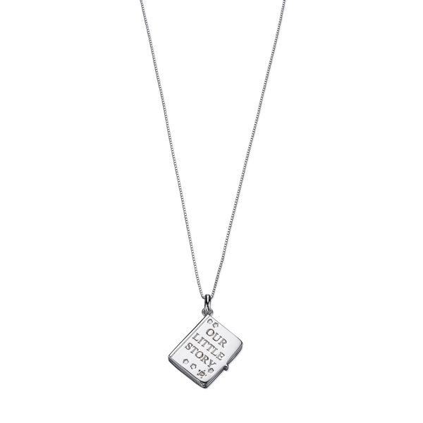 D for Diamond Our little story locket pendant